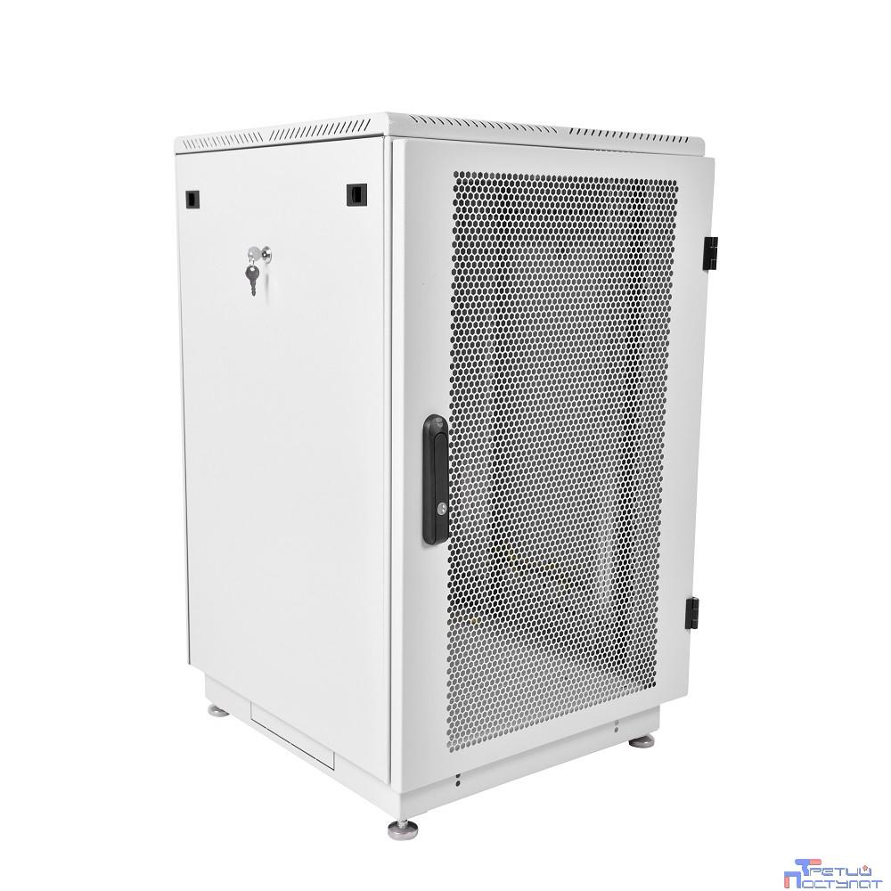 ЦМО! Шкаф телеком. напольный 18U (600x600) дверь перфорированная (ШТК-М-18.6.6-4ААА) (2 коробки)