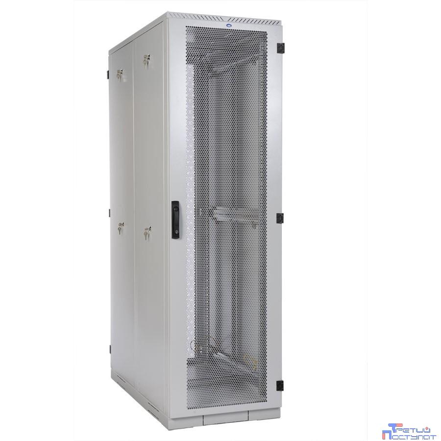 ЦМО! Шкаф серверный напольный 42U (600x1000) дверь перфорированная 2 шт. (ШТК-С-42.6.10-44АА) (4 коробки)