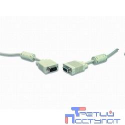 Gembird/Cablexpert CC-PPVGA-15m, Кабель VGA Premium ,15M/15M,15м, двойн. экран,феррит. кольца,пакет