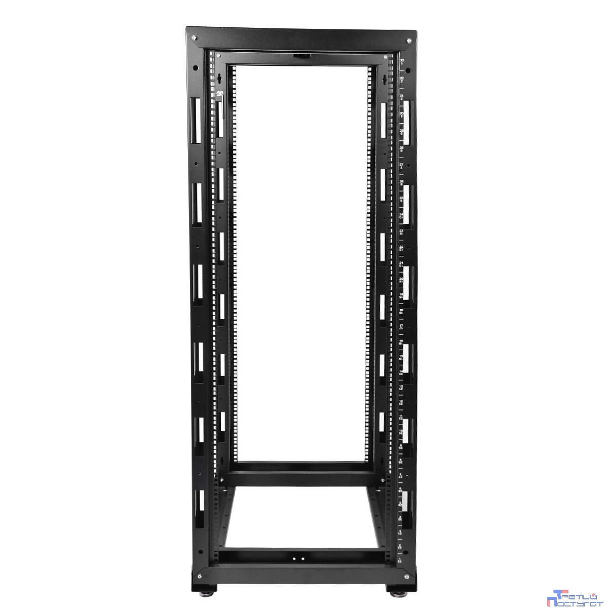 ЦМО! Стойка телеком. универсальная 42U двухрамная,цвет черный (СТК-42.2-9005) (1 коробка)
