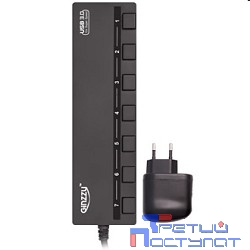 HUB GR-388UAB Ginzzu USB 3.0/2.0 7 port + adapter