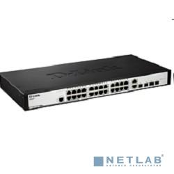 D-Link DES-3200-28P/C1A Коммутатор Управляемый коммутатор 24x10/100Mbps, 4 Combo 1000BASE-T/SFP,  19''