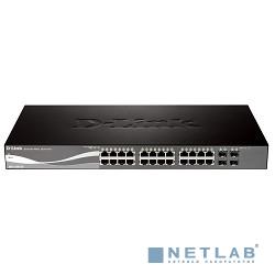D-Link DGS-1500-28/A1A PROJ Настраиваемый коммутатор SmartPro с 24 портами 10/100/1000Base-T + 4 портами SFP и функцией энергосбережения