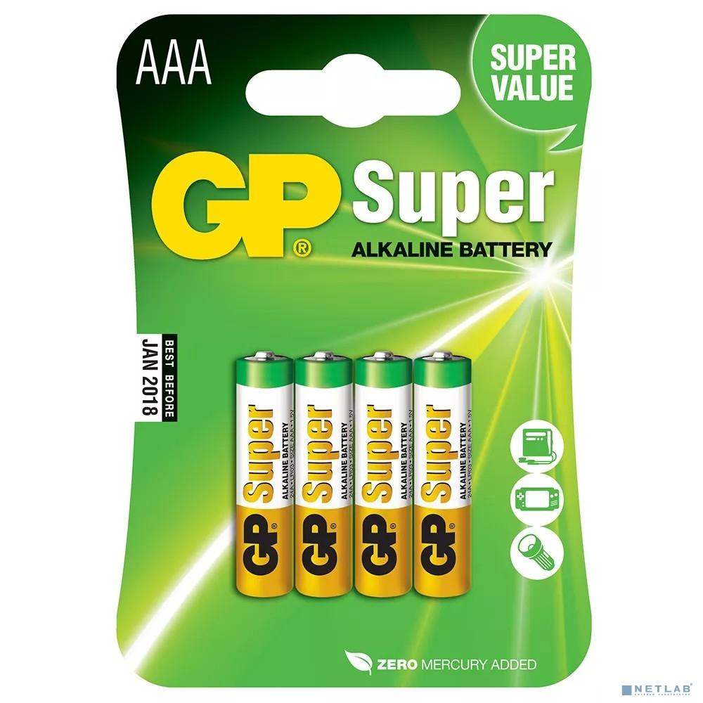 GP 24A(CR4)-UE4 AAA (SUPER)  (4 шт. в уп-ке)