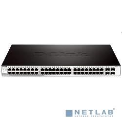 D-Link DGS-1210-52/F1A Настраиваемый коммутатор WebSmart с 48 портами 10/100/1000Base-T и 4 комбо-портами 100/1000Base-T/SFP