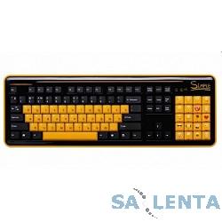 Simple «S8» black USB, Клавиатура 86+20 доп. кл.(смайлы на цифровом блоке)