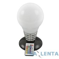 ORIENT PS-500 Настольный светильник «Лампа Ильича» ,  15см, высота 28см, 16 оттенков свечения, 5 режимов, управление с пульта ДУ, USB