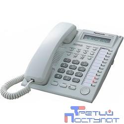 Panasonic KX-AT7730RU (PP) (белый) Системный телефон с дисплеем и спикерфоном (12 кнопок)