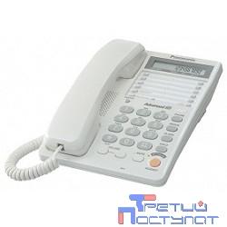 Panasonic KX-TS2365RUW (белый) {16-зн ЖКД, однокноп.набор 20 ном., автодозвон, спикерфон }