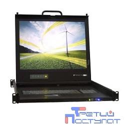 ProCase UNIUS 19/E/RU Консоль модульная однорельсовая 19'', single rail console, LCD D-Sub,  PS/2 и USB, разрешение 1280*1024, USB hub, возможность установки модуля KVM, IP