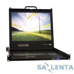 ProCase UNIUS 19/E/RU Консоль модульная однорельсовая 19», single rail console, LCD D-Sub,  PS/2 и USB, разрешение 1280*1024, USB hub, возможность установки модуля KVM, IP