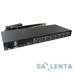 ProCase OCTO-16-C Модуль переключателя KVM 16 портов Combo (PS/2 и USB), опционально: вторая консоль, IP модуль, разрешение 1920*1440, каскадируемый