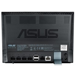 ASUS DSL-N17U Dual-purpose wireless router and DSL modem with both Ethernet and DSL internet connection (WAN) ports