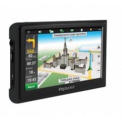 """Навигатор Автомобильный GPS Prology iMAP-7300 черный 7"""" 800x480 4Gb microSD Navitel"""