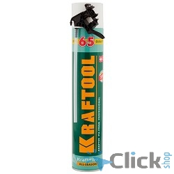Пена KRAFTOOL KRAFTFLEX 65монтажная, адаптерная, всесезонная, 750мл [41175]