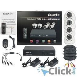 Falcon Eye FE-104AHD-KIT ДОМ(1) Комплект видеонаблюдения {Гибридный регистратор с поддержкой AHD/IP/Аналог,Алгоритм сжатия H.264,Запись 1280*720/100 кад./сек,Поддержка  P2P и 3G модема }
