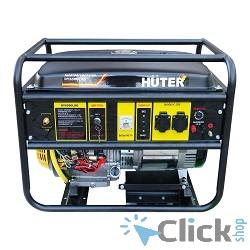 Huter DY6500LXG 64/1/32 Электрогенератор  четырехтактный, 5000Вт, 220В/50Гц, 81Дб, принудительное охлаждение, бак 22 л, расход бензина 374 г/кВтч, расход масла 6,8 г/кВтч, вес 74 кг