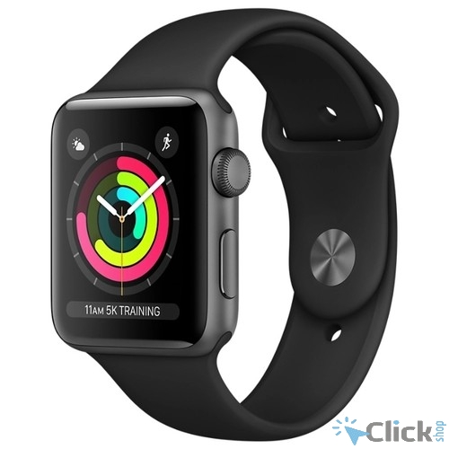 Apple Watch Series 3 42mm Space Grey Aluminium with Black Sport Band [MQL12RU/A]