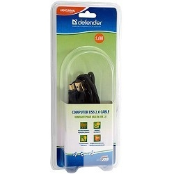 Defender USB07-06PRO USB 2.0 кабель для соед. 1.8м  А (M)-miniB (M)  позол. конт. [87423]