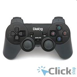 GP-A11RF Dialog Action черный USB {Беспроводной геймпад, RF 2.4G, вибрация, 12 кнопок}