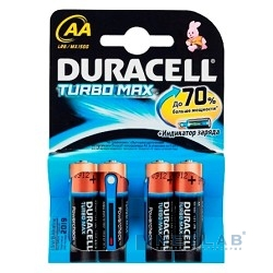 DURACELL LR6-4BL TURBO MAX AA / TURBO  (MX1500) (4 шт. в уп-ке)  (EU) замена арт. 1631796