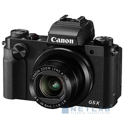 "Canon PowerShot G5 X черный {20.2Mpix Zoom4.2x 3"" 1080p SDXC/SD/SDHC CMOS IS opt 5minF rotLCD TouLCD VF 4.4fr/s RAW 60fr/s HDMI/WiFi/NB-13L}"