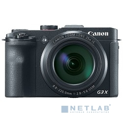 "Canon PowerShot G3 X черный {20.2Mpix Zoom25x 3.2"" 1080p SDXC/SD/SDHC CMOS IS opt 5minF rotLCD TouLCD 5.9fr/s RAW 60fr/s HDMI/WiFi/NB-10L}"