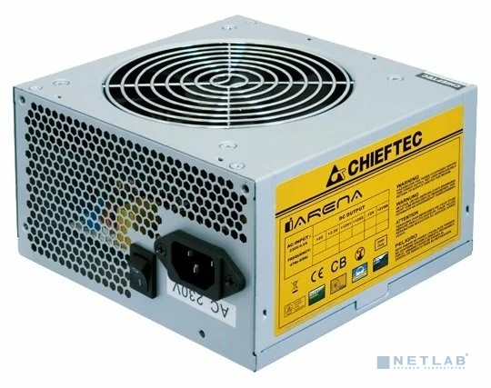 Chieftec 450W OEM [GPA-450S8] {ATX-12V V.2.3 PSU with 12 cm fan, Active PFC, ficiency >80% 230V only}