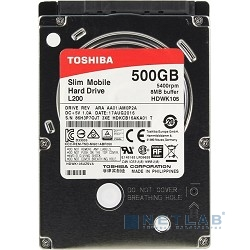 "500Gb Toshiba (HDWK105UZSVA) L200 Slim {SATA 3, 5400 rpm, 8Mb, 2.5"", 7.5 mm}"