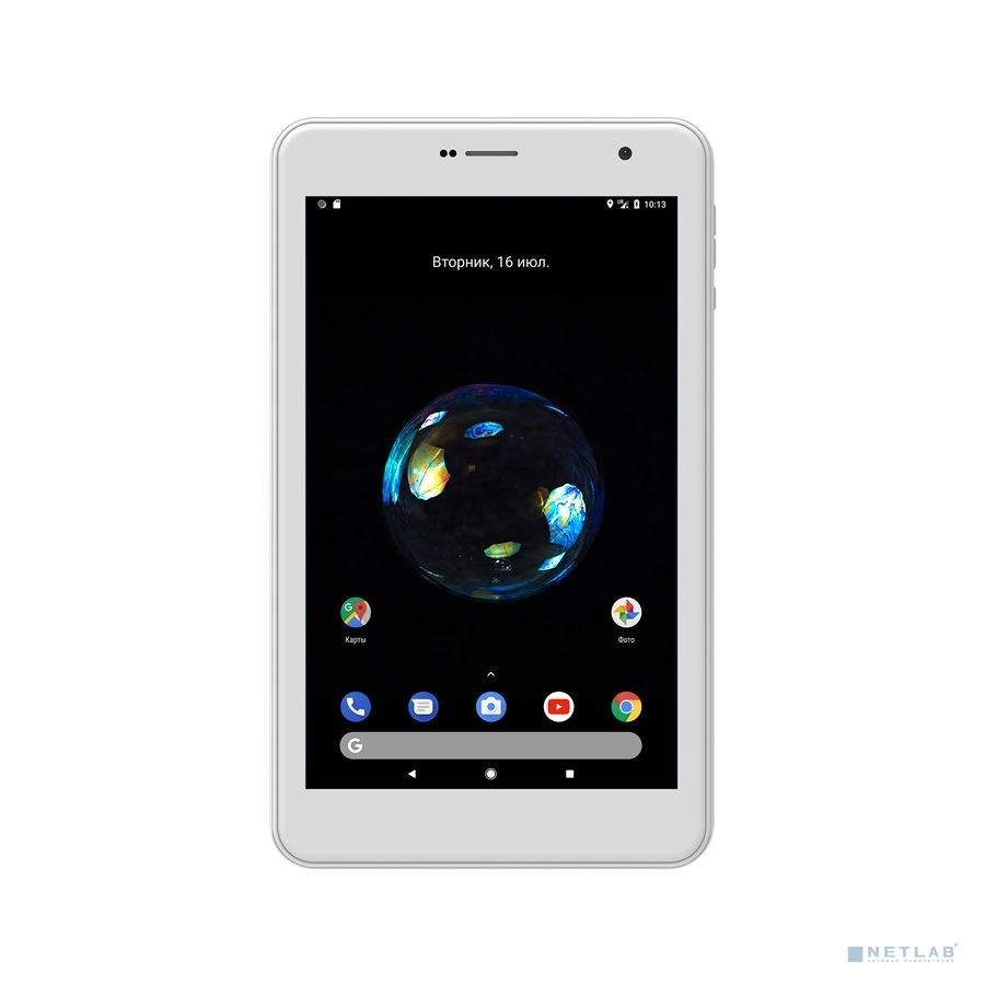 "Digma Optima 7 Z800 4G SC9863 8C/4Gb/64Gb 7"" IPS 1920x1200/3G/4G/And10.0/серебристый/белый/B [1373915]"