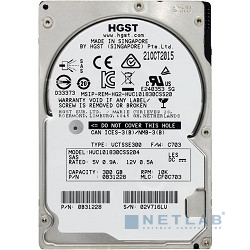 300Gb Hitachi Ultrastar C10K1800 (HUC101830CSS204) {SAS 12Gb/s, 10000 rpm, 128mb, 2.5''}