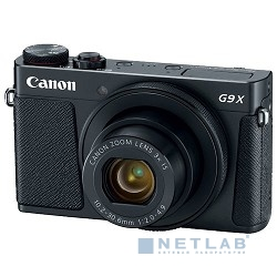 "Canon PowerShot G9 X Mark II черный {20.9Mpix Zoom3x 3"" 1080p SDXC CMOS IS opt 5minF TouLCD 6fr/s RAW 60fr/s HDMI/WiFi/NB-13L} [1717C002]"
