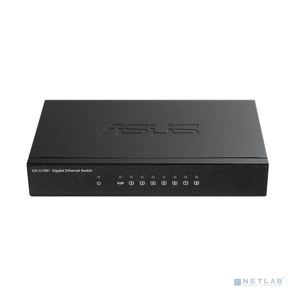 ASUS GX-U1081 PLUG-N-PLAY COMPACT SIZE SWITCH WITH VIP PORT