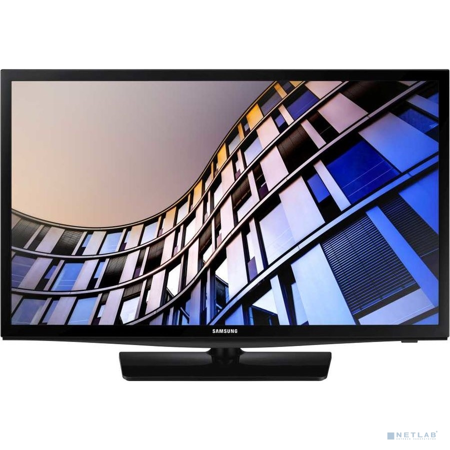 "Samsung 24"" UE24N4500AUXRU 4 черный {HD READY/DVB-T2/DVB-C/DVB-S2/USB/WiFi/Smart TV (RUS)}"