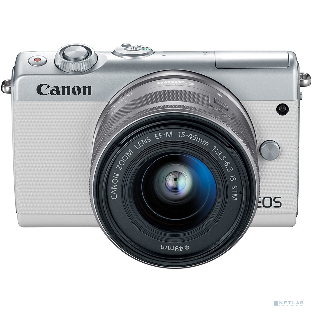 "Canon EOS M100 белый {24.2Mpix 3"" 1080p WiFi 15-45 IS STM LP-E12}"