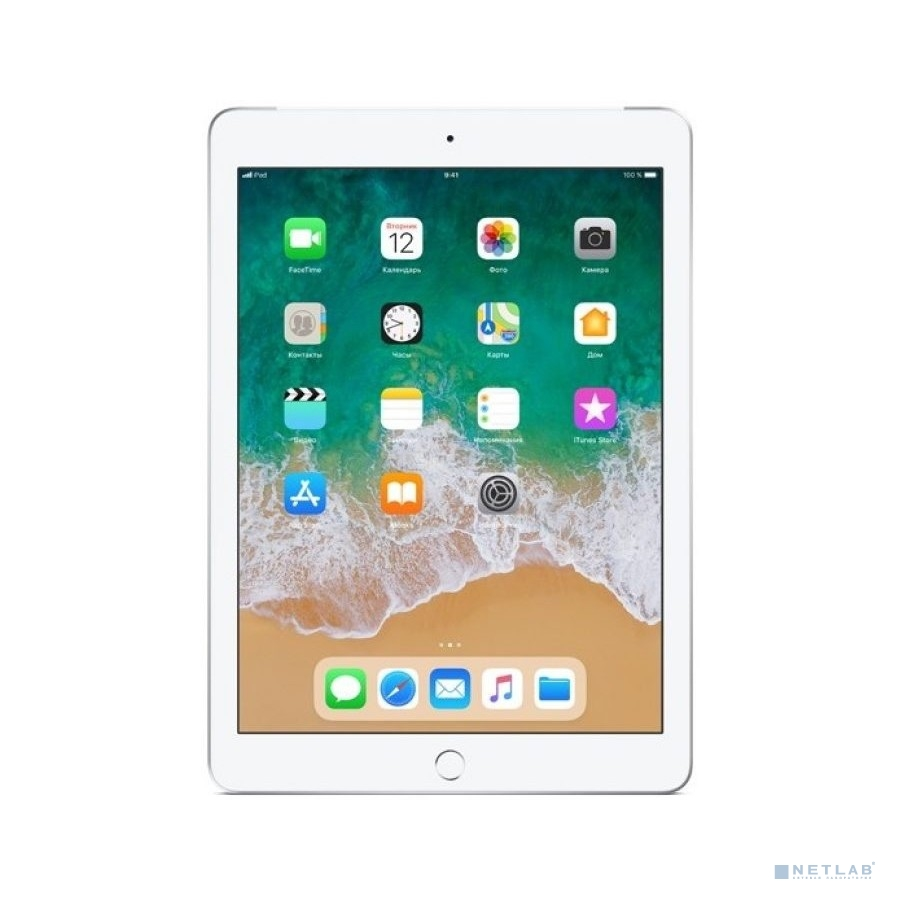 Apple iPad Wi-Fi + Cellular 128GB - Silver (MR732RU/A) (2018)