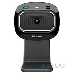 Microsoft LifeCam HD-3000, USB 2.0, 1280*720, автофокус, Mic, Black T3H-00013  RTL