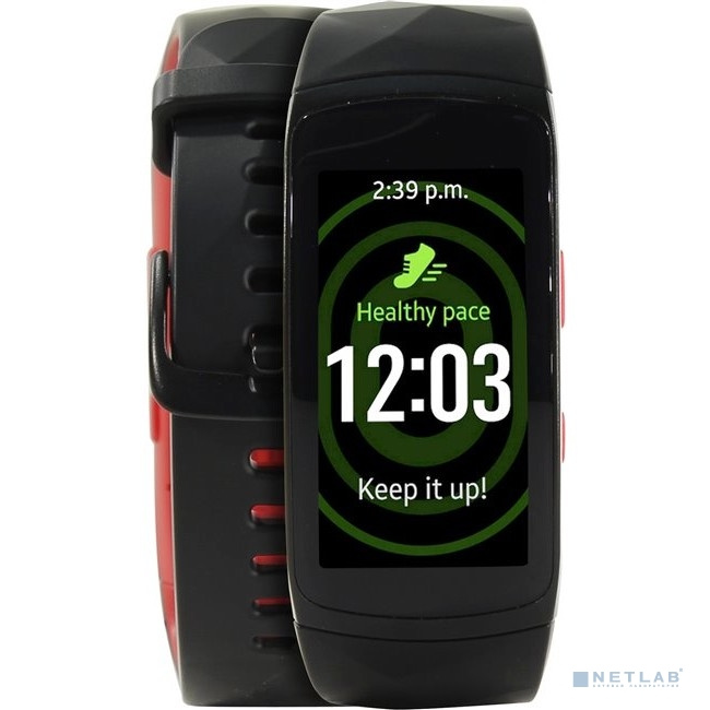 Sam. GearFit2 PRO SM-R365 black-red (L) [SM-R365NZRASER]