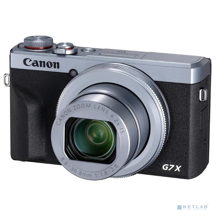 "Canon PowerShot G7 X MARKIII серебристый/черный 20.1Mpix Zoom4.2x 3"" 4K SDXC/SD/SDHC CMOS IS opt 5minF rotLCD TouLCD VF 4.4fr/s RAW 60fr/s HDMI/WiFi/NB-13L"