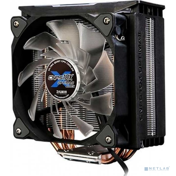 Cooler Zalman CNPS10X Optima II Soc-FM2+/AM2+/AM3+/AM4/1150/1151/1155/2011/ 4-pin 17-27dB Al+Cu 180W 740gr LED Ret