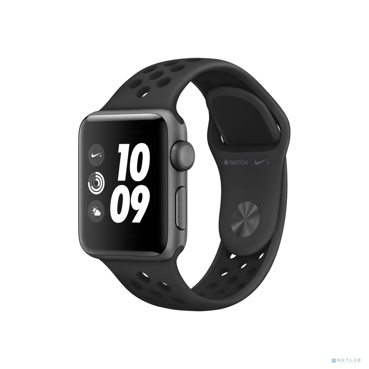 Apple Watch Nike+ Series 3 38mm Space Grey Aluminium with Nike Sport Band Anthracite/Black [MQKY2RU/A]