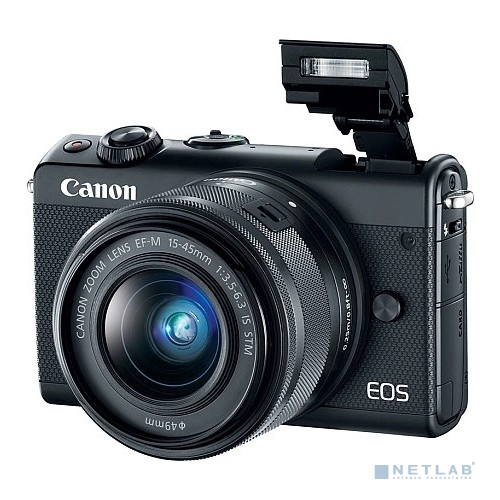 "Canon EOS M100 черный {24.2Mpix 3"" 1080p WiFi 15-45 IS STM LP-E12}"