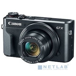 "Canon PowerShot G7 X MARKII черный {20.2Mpix Zoom4.2x 3"" 1080p SDXC/SD/SDHC CMOS IS opt 5minF rotLCD TouLCD VF 4.4fr/s RAW 60fr/s HDMI/WiFi/NB-13L}"